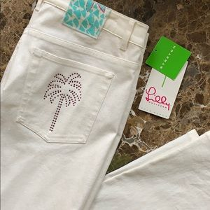 Lilly Glitz White Jeans